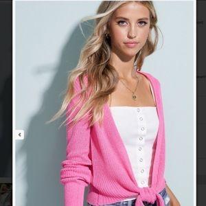 Gorgeous pink cropped cardigan